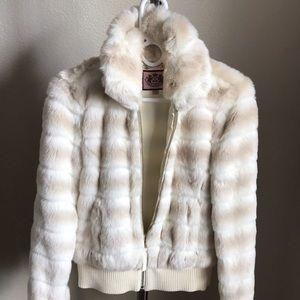Juicy Couture Faux Fur Jacket Coat